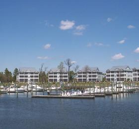 Photo of St James, NC including marina/docks.