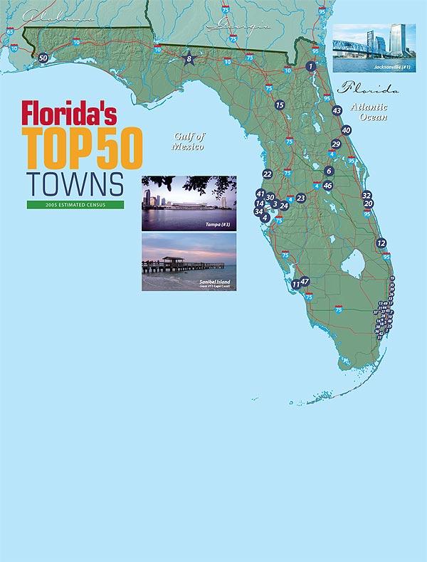 Florida Panhandle Map.Longboat Key Condos